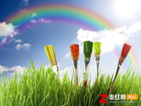 花太阳彩虹你
